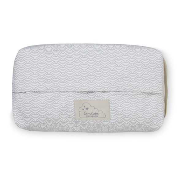 Cam Cam baby wet wipe cover for changing table and nappy bag grey wave portable