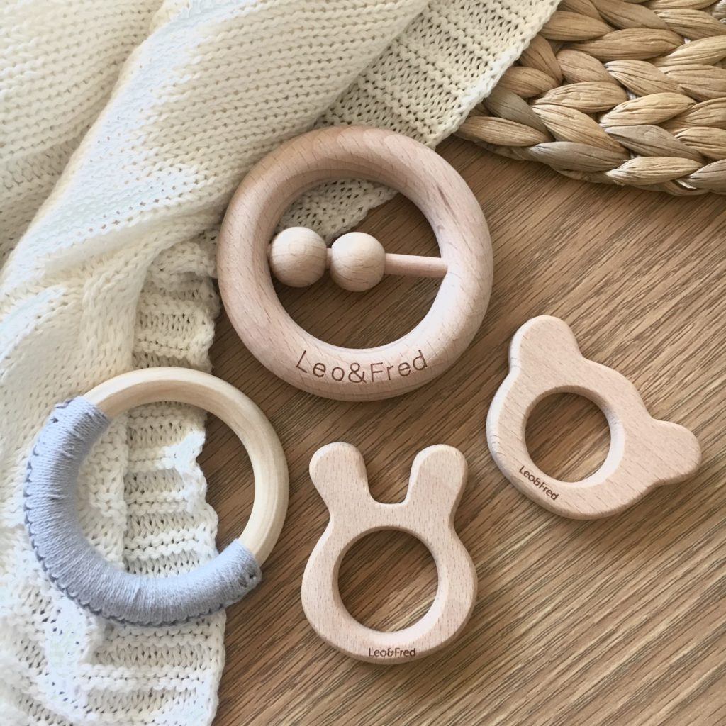 wooden teething rings for babies