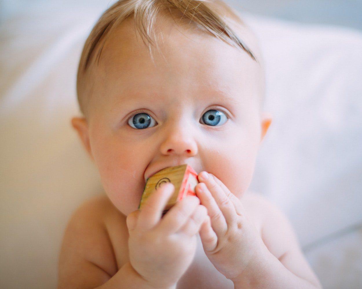 Baby teething wooden teething toy