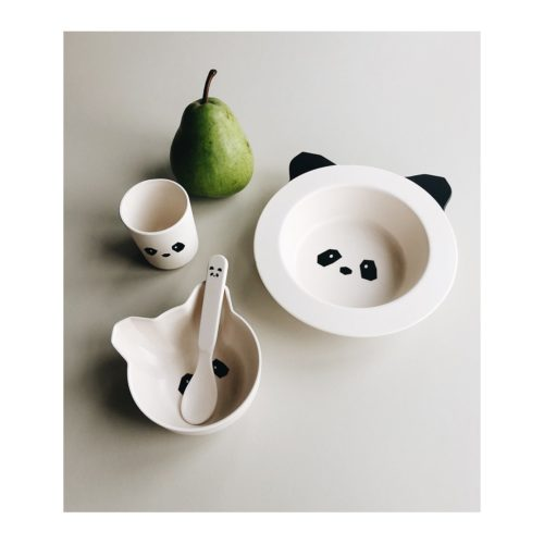 Baby Plate Set Panda - 2 bowls, 1 cup, 1 spoon