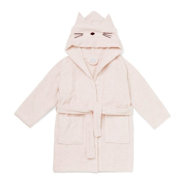 Children's bathrobe with a cat hood