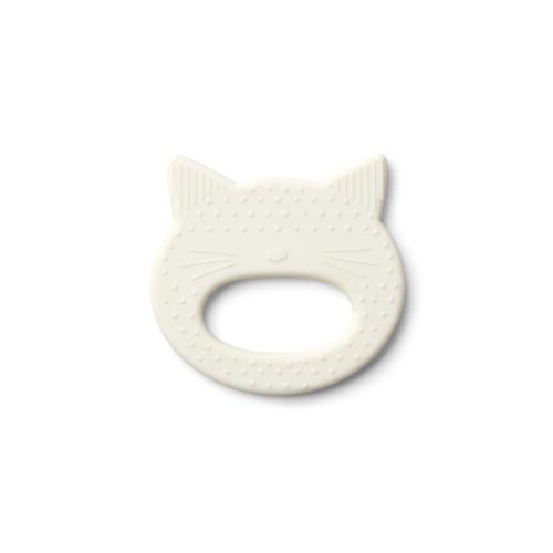 Teether/teething toy shaped like a cat made of silicone