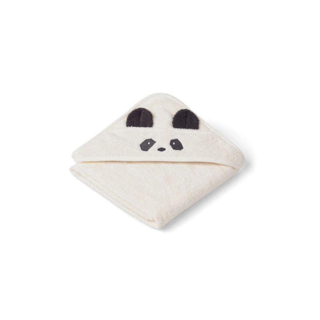 Hooded Baby towel with panda face and ears