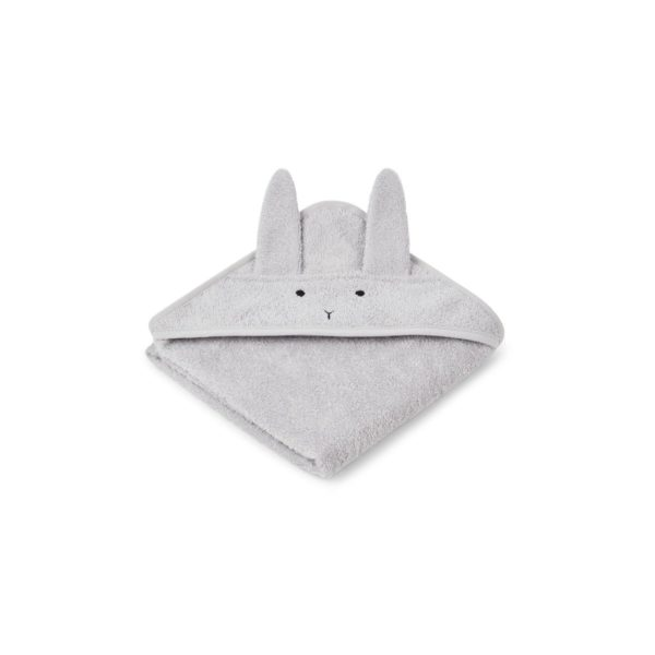 Hooded Baby towel grey bunny with ears