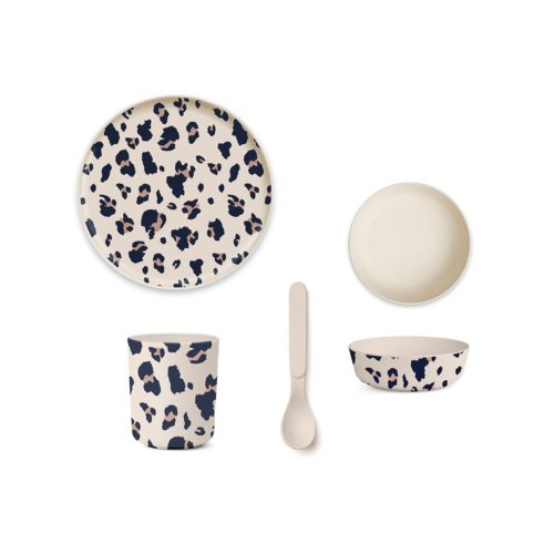 Bamboo Baby Plate Set - Bowl, Plate, Cup, Spoon