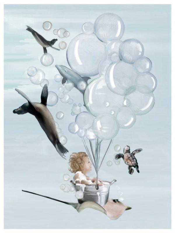 Kids poster underwater theme