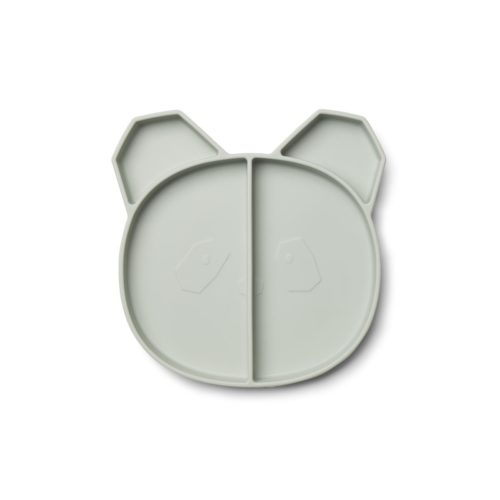 Kids Silicone Divided Plate shaped like a panda