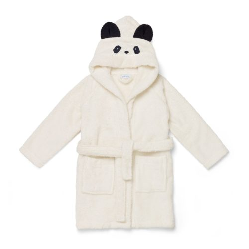 Panda hooded kids bathrobe