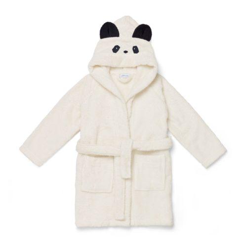 Panda hooded kids bathrobe
