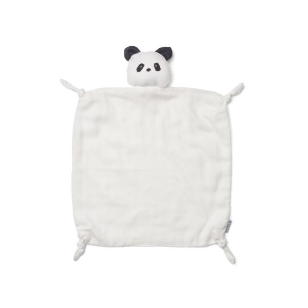 Cream Panda Security Blanket for babies