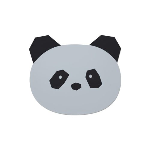 Kids Silicone place mat panda shape in grey
