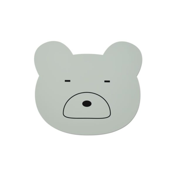 Silicone placemat for kids mint bear