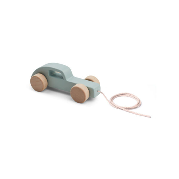 Wooden pull along toy car