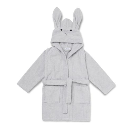Grey Rabbit hood bathrobe for children