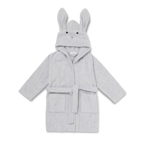 Grey Rabbit hood bathrobe for children