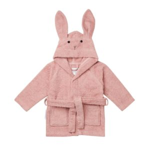 Pink rabbit bath robe for kids and babies