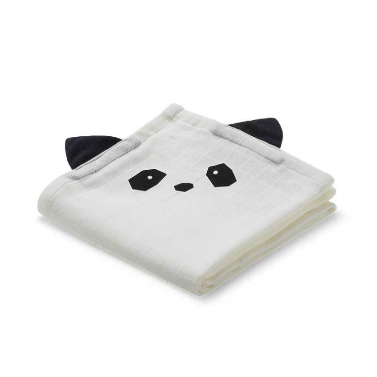 Muslin Wrap for babies Panda face cream