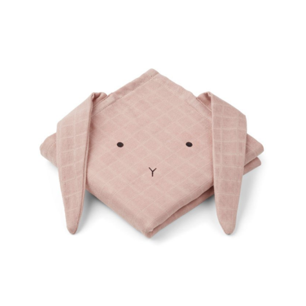 Muslin wraps pink and rose colour with rabbit face