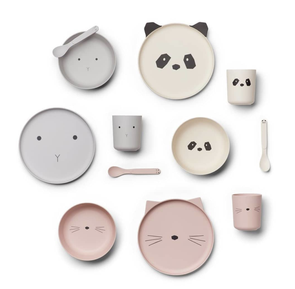 Liewood bamboo kids plates and tableware