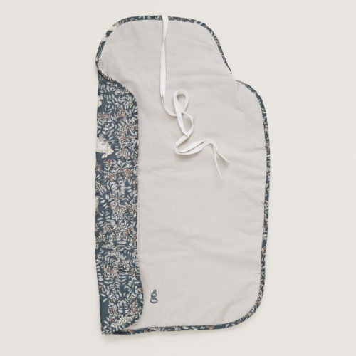 organic cotton baby travel changing mat spread out