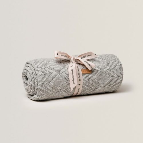 Soft cotton baby blanket in grey