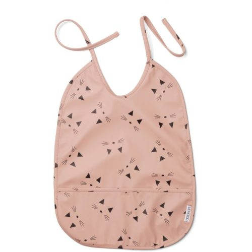 waterproof pink cat bib for babies