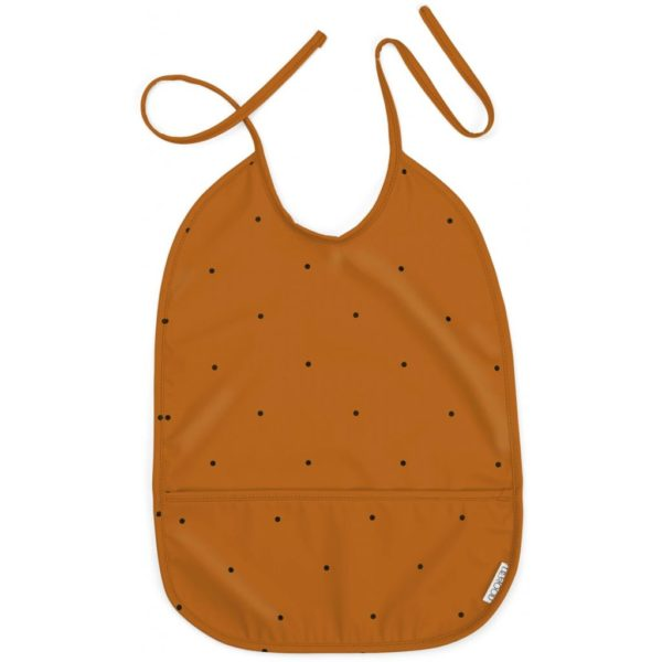 Lightweight waterproof mustard bib for babies