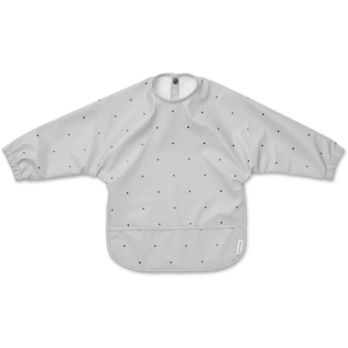 Smock bib in grey with dots for kids