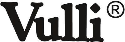 Black white logo of Vulli