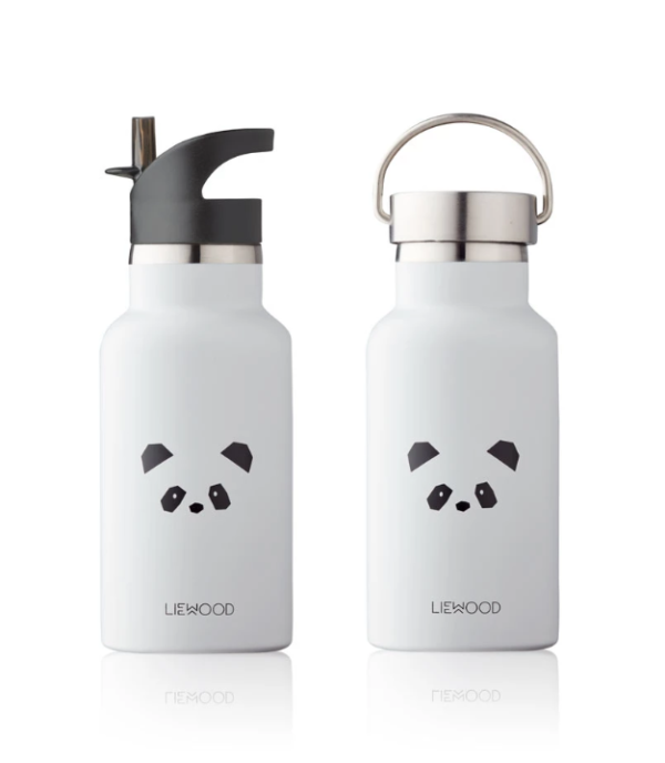 Grey water bottles for kids made of stainless steel