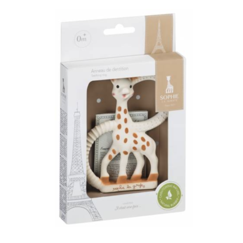 grey gift box of Sophie the Giraffe baby teething ring
