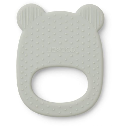 mint coloured baby teether in shape of bear