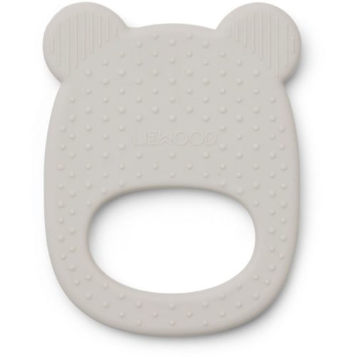 grey bear shaped silicone teether toy for babies