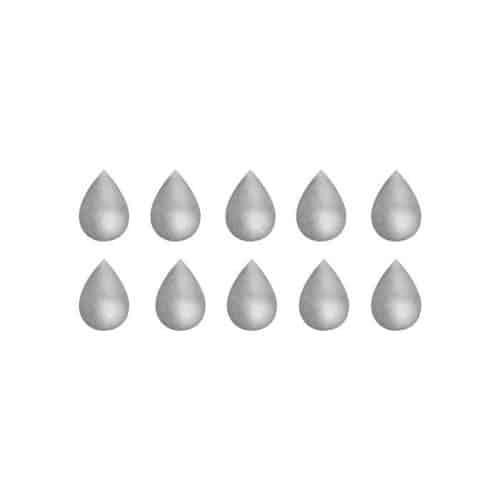 Nursery wall stickers in grey rain drop shape