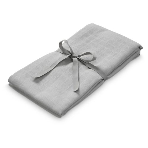 Baby organic cotton muslin swaddle in grey colour for swaddling