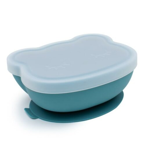 Blue Dusk Silicone Suction Baby Bowl