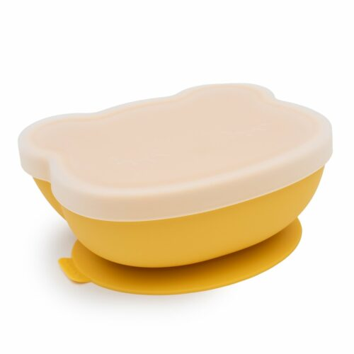 Yellow Silicone Baby Bowl