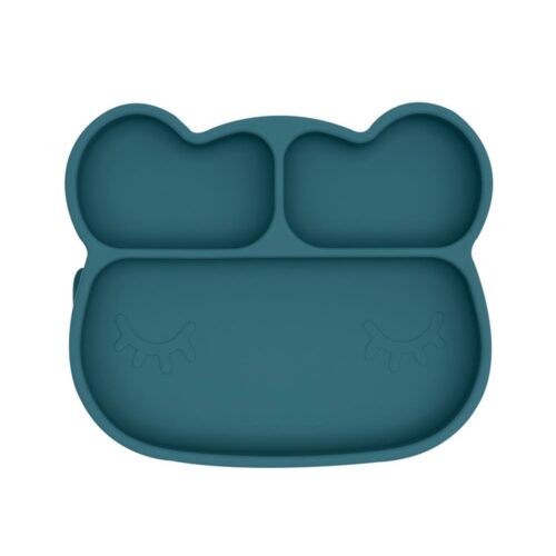 Baby suction plate bear shape, colour blue dusk