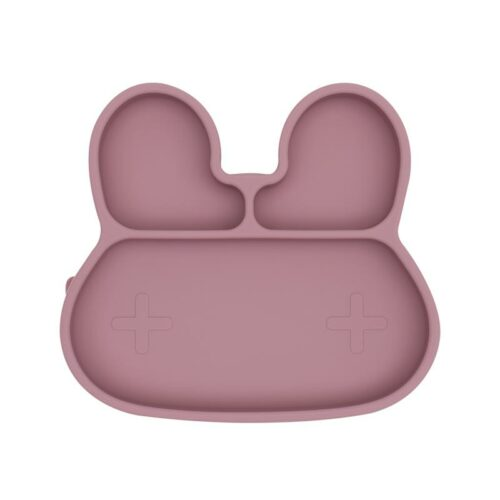 Bunny Shaped Dusty Rose Stickie plate