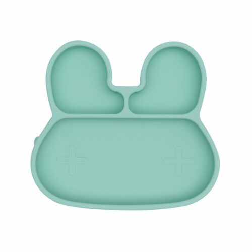 Bunny shaped suction plate colour mint