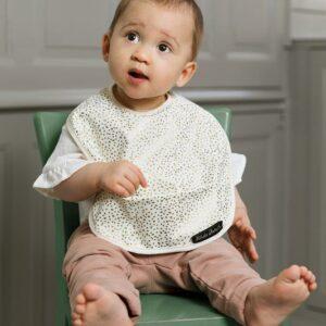 Elodie Details Baby Bib Gold Shimmer1