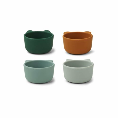 Green Multi Mix Silicone Bowls