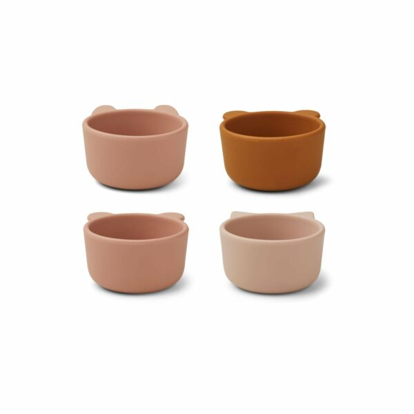 Rose Multi Mix Silicone Bowls