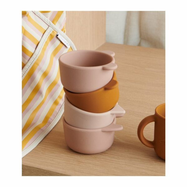 Rose Multi Mix Silicone Baby Bowls
