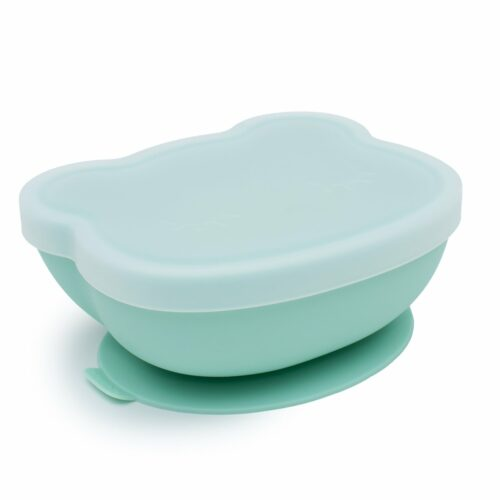 Mint Bear Shaped Baby Suction Bowl