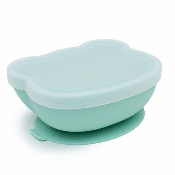 Mint Bear Shaped Baby Suction Bowl