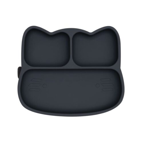 Charcoal Cat Shaped Silicone Suction Plate