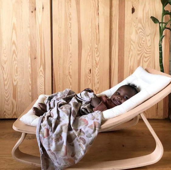 White baby rocker for babies